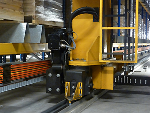 AKAPP Pro-Ductor with barcode tape in automated warehouse